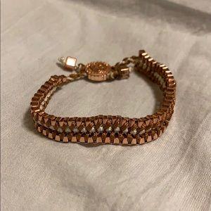 Rose Gold tie bracelet Jessica Simpson